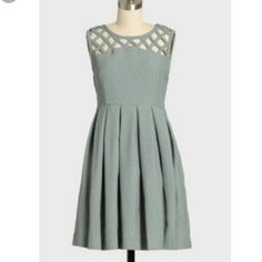"Dear creatures grey lily dress modcloth EUC! Never worn by me. Bust 35"" waist 29"". ModCloth Dresses"