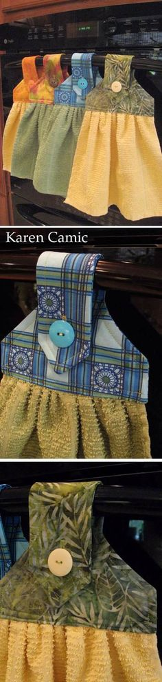 Discover thousands of images about DIY Kitchen Towels - Cute and Easy Sewing Project that Makes a Cool DIY Christmas Gift Idea for Family and Friends - Step by Step Tutorial and Video - Kitchen and DIY Home Decor, Rustic Farmhouse Crafts and Projects Sewing Hacks, Sewing Tutorials, Sewing Patterns, Online Tutorials, Sewing Ideas, Fabric Crafts, Sewing Crafts, Sewing Projects, Baby Hut
