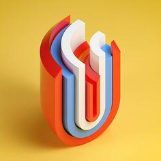 "275 Me gusta, 9 comentarios - Serafim Mendes (@serafim.mendes) en Instagram: ""Day 21 — U (36 Days of Type). #36daysoftype #36days_U #typography #illustration #graphicdesign…"""