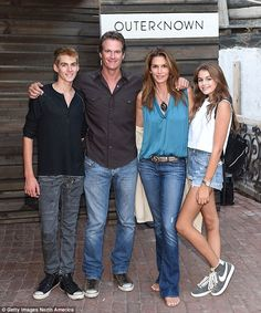 Great genes: Cindy and Rande with their son Presley and Kaia at the Launch of Outerknown in Malibu last August