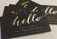 Minted Gold Foil Business Cards // Networking Tips (Including What to Add On Your Business Cards) // Many Sparrows Blog: