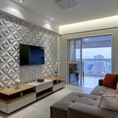 Pin by margarete santos on painel sala in 2019 телестены, ко Tv Wall Design, House Design, Interior Design Living Room, Living Room Decor, Living Room Tv Unit Designs, Tv Wall Decor, Cheap Home Decor, Amazing Ideas, 3d Wallpaper