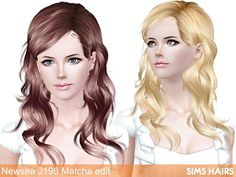 Free Sims 3 Hairs download - Newsea's J196 Matcha hairstyle retextured. Combined textures plus mixed color controls and specular. All the credit for mesh go to Newsea Sims 3, you can s