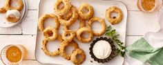 Ranch Onion Rings Recipe ½ cup flour (all-purpose teaspoons Hidden Valley® Original Ranch Salad® Dressing Seasoning Mix ( Side Recipes, Pork Recipes, Fall Recipes, Vegetable Recipes, Cooking Recipes, Weekly Recipes, Dinner Recipes, Ranch Dressing Recipe, Ranch Recipe