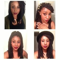 Medium length, long bob box braids I really want to try this style! I feel like this look would compliment my new frames so well