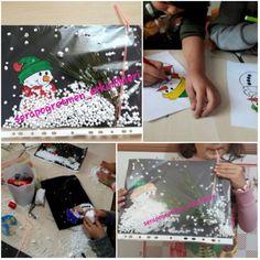 "389 Beğenme, 16 Yorum - Instagram'da Okulöncesi etkinlikleri (@serapogretmen_etkinlikleri): ""Uçuşan karlar ❄☃ #serapogretmen #serapogretmen_etkinlikleri Projects For Kids, Crafts For Kids, Arts And Crafts, Diy Crafts, School Parties, Reggio Emilia, Child Development, Art Girl, Winter"