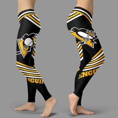 Straight Cute Beautiful Attractive Pittsburgh Penguins Leggings – Best Funny Store Diy Friendship Bracelets Patterns, Pittsburgh Penguins Hockey, Tights, Leggings, Cool Logo, Cool Outfits, Penguins Players, Clothes For Women, Stylish