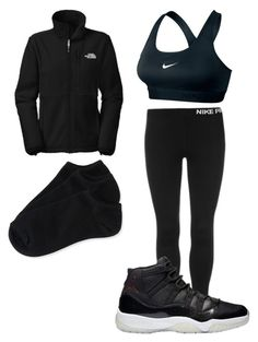 """Jayla"" by manii13k ❤ liked on Polyvore featuring The North Face, NIKE, Aéropostale, women's clothing, women, female, woman, misses and juniors"