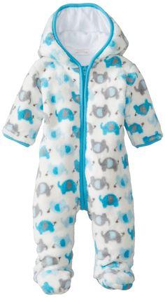 Amazon.com: ABSORBA Baby-Boys Newborn B Elephant Fuzzy Footie: Baby