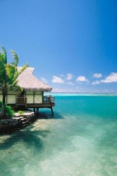 Stay in a hut on the water in Fiji.