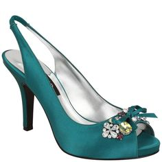 Nina Milika | Teal Blue Crystal Satin New Styles, Shoes | Nina Shoes    You are cute cute cute...and classy, aren't 'cha!?