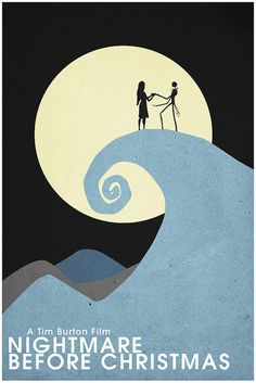 The Nightmare Before Christmas (1993) ~ Minimal Movie Poster by Christian Frarey #amusementphile