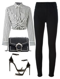 A fashion look from January 2018 featuring T By Alexander Wang tops, dVb Victoria Beckham jeans and Yves Saint Laurent sandals. Browse and shop related looks. Classy Outfits, Chic Outfits, Fall Outfits, Fashion Outfits, Womens Fashion, Fashion Trends, Fashion 2018, Ladies Fashion, Fashion Fashion