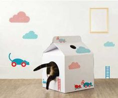 Pet House from Moissue Combines Versatile Milk Box Design with Weightless Cardboard