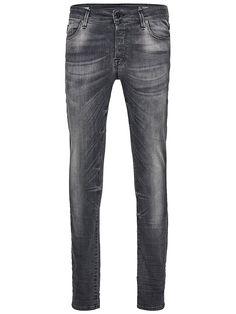 Jeans Intelligence - Jeans von JEANS INTELLIGENCE - Skinny fit - 5-Taschen-Stil - Low rise - Schmale Oberschenkel und extra schmale Knieform - Extra enger Beinabschluss - Eingriff mit Knopfverschluss - Bleichungen sorgen für den Used-Look - Markenlogo-Schildchen an der Münztasche - Super Stretch - Das Modell trägt Größe 31/32 und ist 187 cm groß 93% Baumwolle, 6% Polyester, 1% Elasthan...
