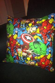 Marvel Avengers scatter cushion. £10.00, via Etsy.
