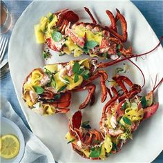 Lobster Salad with Green Mango and Mint