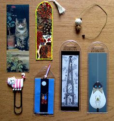 My collection of cat bookmarks (Which yes, forms a subsection of my general bookmark collection. Don't judge me.)