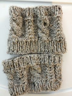 Cats and Crafts: Fake Burberry Infinity Scarf + Knitted Cabled Boot Cuffs