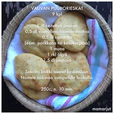 Vauvan puurorieskat Baby Puree Recipes, Baby Food Recipes, Cooking Recipes, Toddler Meals, Kids Meals, Fingerfood Baby, Baby Snacks, Baby Finger Foods, Kitchens