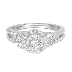 I Am Loved® 3/4 ct. tw. Diamond Halo Engagement Ring in 14K White Gold - 2180054