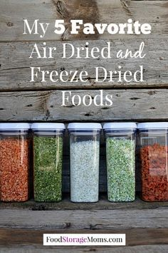 5 Favorite Air And Freeze Dried Foods - Food Storage Moms 5 Favorite Air And Freeze Dried Foods-never run out of the basics again by Food Storage Moms Harvest Right Freeze Dryer, Survival Food, Survival Skills, Survival Shelter, Survival Life, Wilderness Survival, Emergency Preparedness, Canned Food Storage, Freeze Drying Food