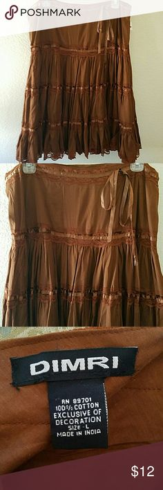 """CLEARANCE!!! 🌴NWT Cute Short Skirt🌴 Brand new. Beautiful brown skirt. 25"""" L. Waist side to side in front is approx 17.5"""". Skirts"""