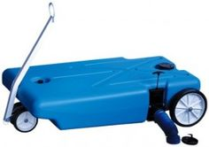 RV portable water tank blue boy. For the grey water from your sink.