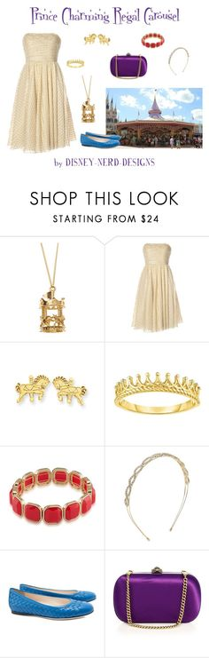 """""""Prince Charming Regal Carousel Inspired"""" by disney-nerd-designs ❤ liked on Polyvore featuring Notte by Marchesa, 1st & Gorgeous by Carolee, Design Lab, Disney, Bottega Veneta and Gucci"""