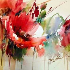 Website about watercolor painter Fabio Cembranelli with a virtual gallery , his painting workshops, art courses, painting holidays and artist biography and contact. Watercolor Poppies, Easy Watercolor, Abstract Watercolor, Watercolor Paintings, Watercolours, Acrylic Flowers, Oil Painting Flowers, Abstract Flowers, Arte Floral