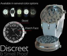 This watch that's also a grinder and stash box.