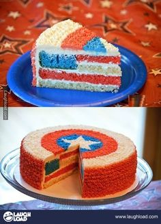 Captain Americake!  AH!  I'm making this for the 4th of July.