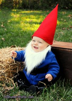 Garden Gnome - great Halloween costume idea for babies