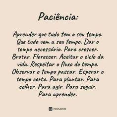 Paciência.....