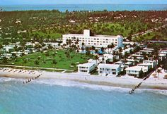 Memory Aerial View Of The Key Biscayne Hotel Villas In Miami