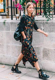 look florido preto com bota