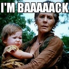 Carol is back! And she saved baby Judith from being smothered to death by crazy little Lizzy! Now how do you think Rick will feel about having her around his children?