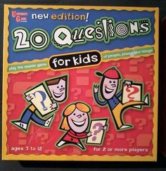 20 QUESTIONS FOR KIDS/ UNIVERSITY GAMES/ BOARD GAME #UniversityGames