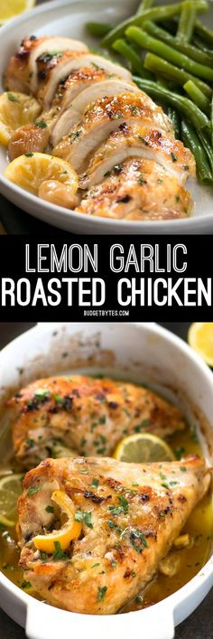 This low and slow cooking method makes this Lemon Garlic Roasted Chicken incredibly tender, juicy, and flavorful!