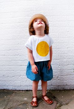 Inspired by Celina's pinterest board of the same name, a cheerful,  practical summer outfit with DIY t-shirt motif that I'm hoping will add  sunshine to a so far thoroughly British summer.