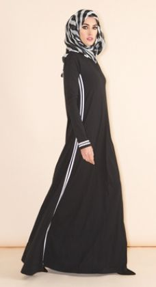 Hijab Fashion Sporty spring is round the corner! Be ready with our new Toshi Abaya www. Hijab Fashion 2016, Abaya Fashion, Modest Fashion, Hijab Style, Hijab Chic, Islamic Fashion, Muslim Fashion, Modest Wear, Modest Dresses