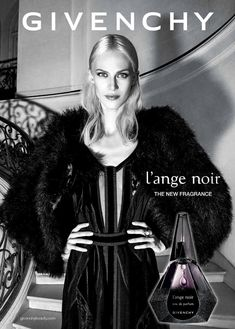 Givenchy L'Ange Noir ~ inspired by the style of crime cinema that is film noir, is the seductive potion of a femme fatale, described as elegant, unique, audacious and desirable. The composition is a powdery floral - oriental combination of light and dark notes. It opens with a combination of pink pepper and almond. A mild powdery character of pure white iris, one of the noblest of flowers, is mixed with slightly salty black sesame in the heart. The base finishes with warm tonka bean & amber