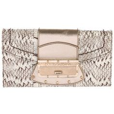 Pre-owned Dolce & Gabbana Python Clutch on Chain ($295) ❤ liked on Polyvore featuring bags, handbags, clutches, animal print, pink purse, chain strap purse, leather man bags, handbags clutches and leather hand bags