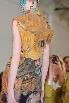 upcycling. (Maison Martin Margiela Artisanal FW12) baseball glove leather recycled fashion design