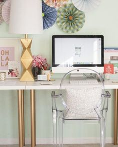 Use gold spray paint to update your workspace.