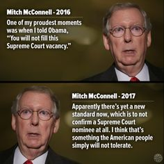 Hypocrisy Thy Name is McConnell!