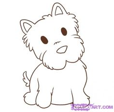 How to Draw a Westie http://www.dragoart.com/tuts/4321/2/1/21137/how-to-draw-a-westie-step-5.htm