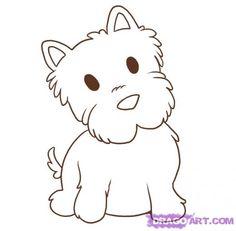 How to Draw a Westie http://www.dragoart.com/tuts/4321/2/1/21137/how-to-draw-a-westie-step-5.htm