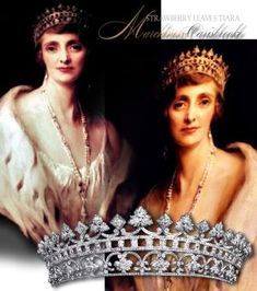 ruby and diamond coronet pattern head ornament consisting of 14 lozenge-shaped clusters & 13 strawberry leaves with ruby and diamond band was part of a suite with necklace, bracelet, brooch and earrings and was a present from Queen Victoria of Great Britain #tiara #crown #historic #jewellery #coronet #royaljewels #royaljewelhistory #royalmagazin