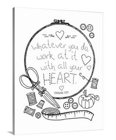 Love this 'Whatever You Do' Coloring Canvas on #zulily! #zulilyfinds